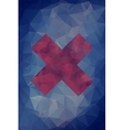 Abstract polygonal cross background vector image