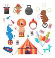 amazing circus show set vector image