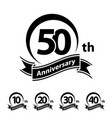 anniversary ribbon number 10 20 30 40 50
