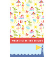 Beach party background for banner or flyer vector image