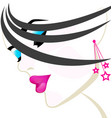 beuty salon woman head vector image