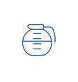 beverage drinks pot line icon concept beverage vector image vector image