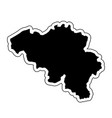 black silhouette of the country belgium with the vector image vector image