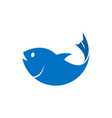 Blue fish element graphic template