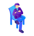 boss at chair icon isometric style vector image