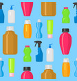 bottles household chemicals supplies vector image vector image
