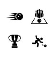bowling simple related icons vector image