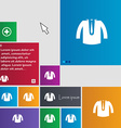 casual jacket icon sign buttons Modern interface vector image vector image