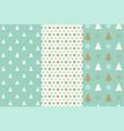 christmas seamless pattern dot and christmas tree vector image vector image