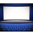cinema theater background vector image vector image