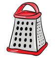 clipart smart vegetable red grater or color vector image vector image