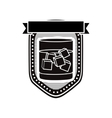 cocktail emblem or label icon image vector image