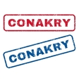 Conakry Rubber Stamps vector image vector image