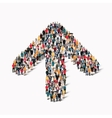 crowd people shape arrow direction vector image