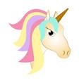 cute unicorn fantasy creature vector image vector image