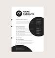 cv resume template - creative stylish curriculum vector image vector image