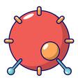 drum icon cartoon style vector image vector image