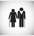 elder couple on white background vector image