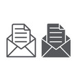 envelope with letter line and glyph icon mail and vector image
