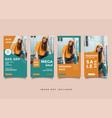 fashion instragram story media post design vector image vector image