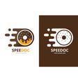 fast donut logo combination speed doughnut vector image