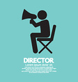 Film Director Symbol Graphic vector image vector image