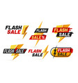 flash sale mega sales lightning badges best deal vector image vector image