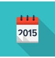 Flat calendar icon Date and time background New vector image
