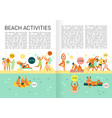 flat vacation infographics vector image
