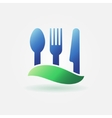 Food or cafe bright icon vector image vector image