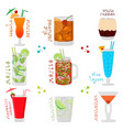 for sweet alcohol cocktail in glass vector image vector image
