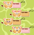 Four cute cartoon Lions stickers set1 vector image vector image