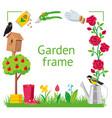 frame square garden vector image vector image