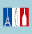 French tricolor Flag of national features of vector image vector image