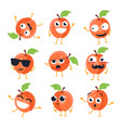 funny peach - isolated cartoon emoticons vector image vector image
