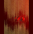 golden 2021 new year red banner christmas theme vector image