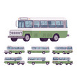 green retro bus vector image vector image