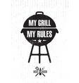 grill master meat on fire barbecue menu vector image