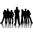 group of young people vector image vector image