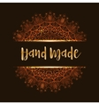 Hand made mandala vector image vector image