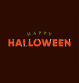 happy-halloween-title-logo-with-bones-lettering vector image