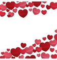 hearts love beautiful valentine design vector image