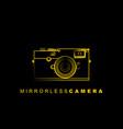 line art mirrorless camera vector image vector image