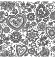 love hearts seamless pattern 5 vector image vector image