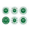 made in saudi arabia labels set made in kingdom vector image vector image
