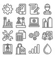 manufacturing and engineering icons set line vector image vector image