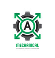 mechanical letter a - logo template concept vector image