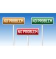 No problem traffic board vector image
