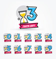 number of days left with sand timer hourglass vector image vector image