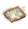 Object in retro style Broken frame vector image vector image